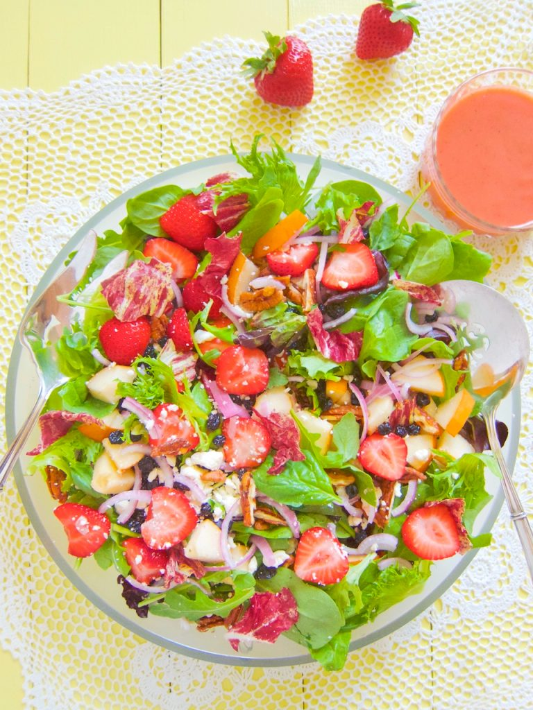 Fresh Strawberry and Pear Salad