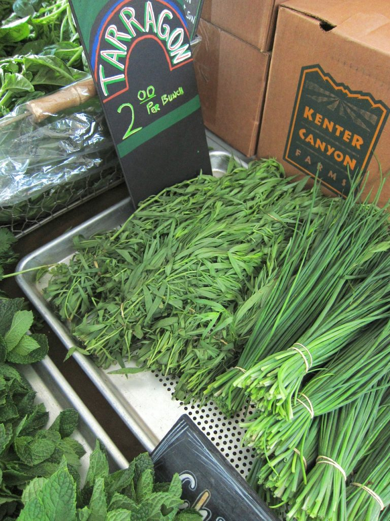 tarragon at the farmers market