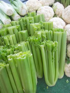 celery at the farmers market