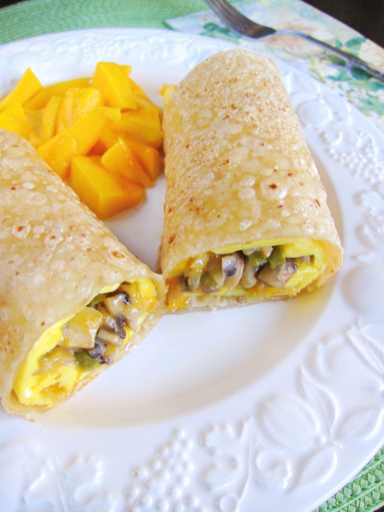 Vegetable Omelette Burritos