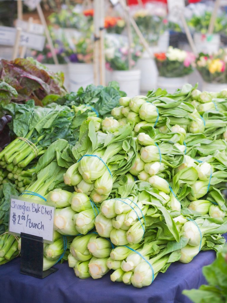 bok choy at the farmers market