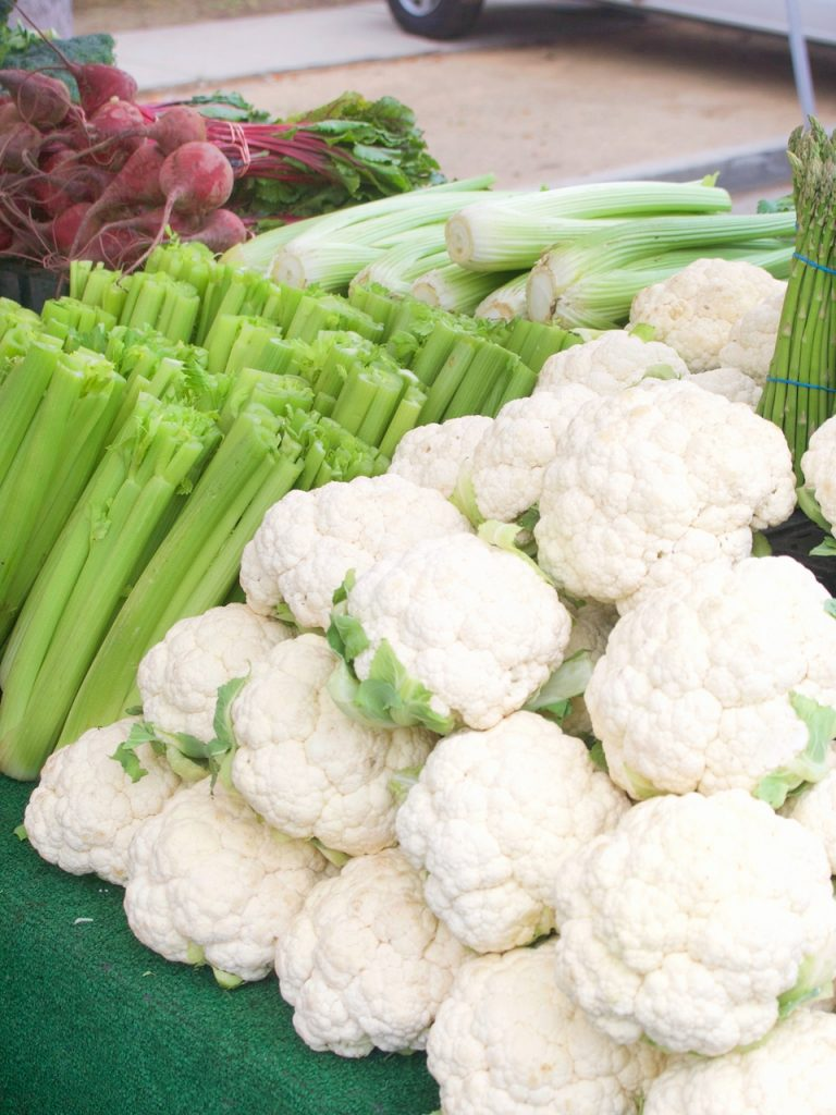 cauliflower at the farmers market