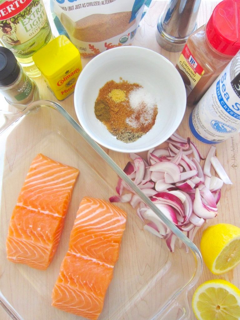 ingredients for glazed salmon