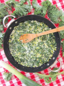 Creamed Kale With Leeks