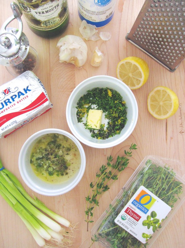 ingredients for Sautéed Chicken With Fresh Herbed Butter