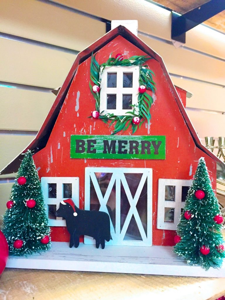 Christmas barn decor