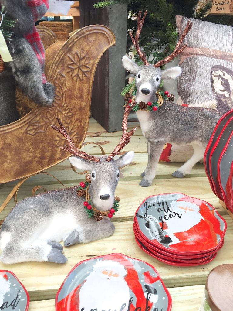 deer and dishes decor
