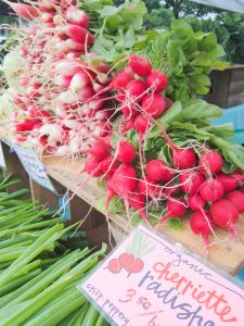 radishes at farmers market