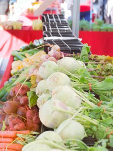 kohlrabi at farmers market