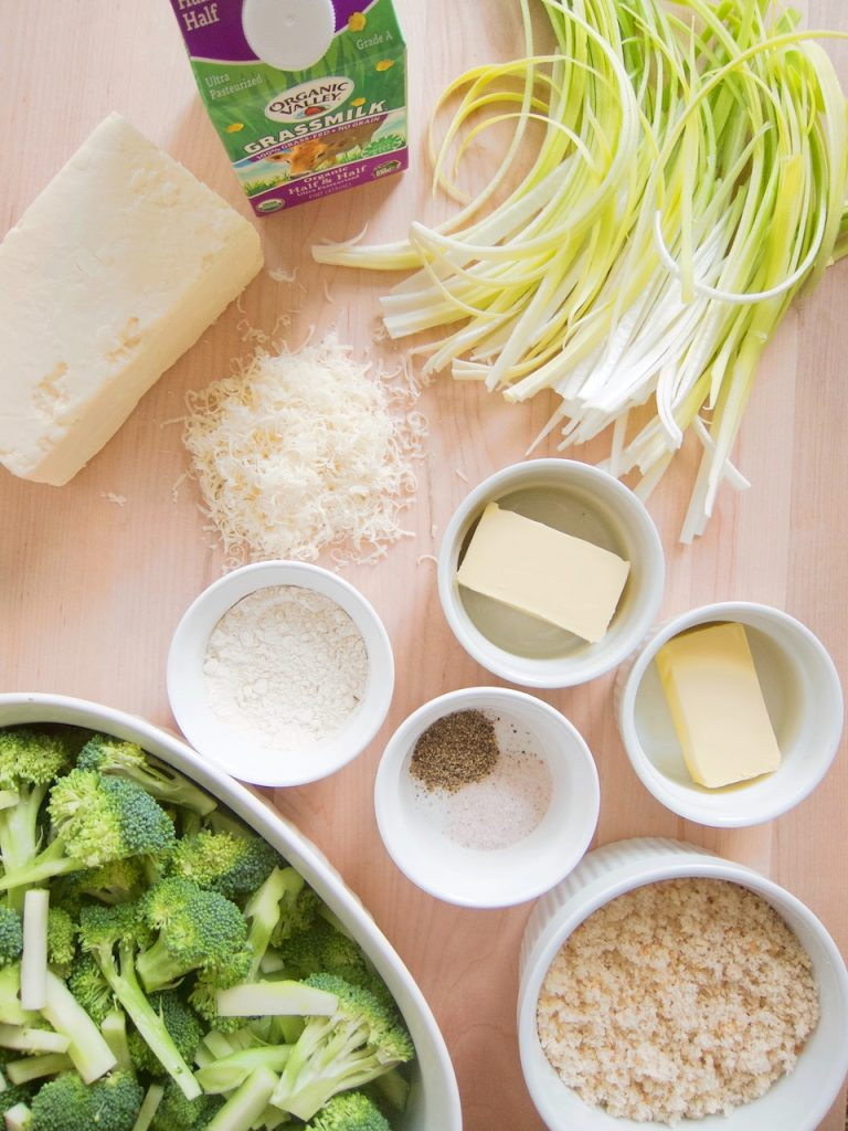 ingredients for Broccoli Casserole With Bread Crumb Topping