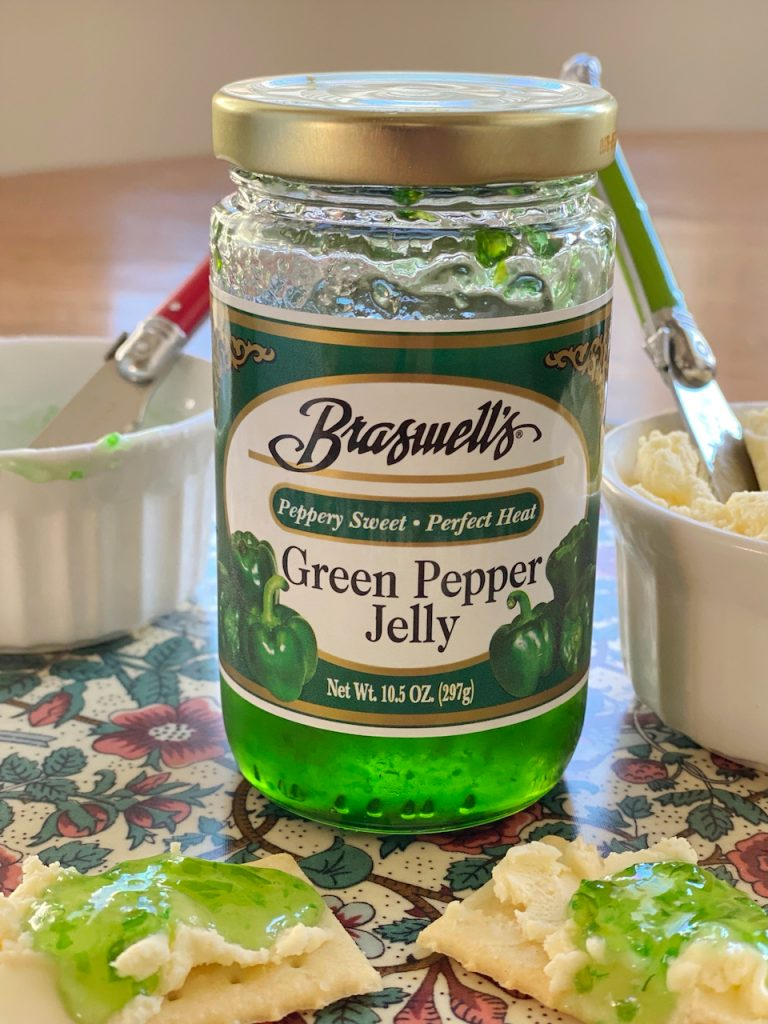 jar of green pepper jelly