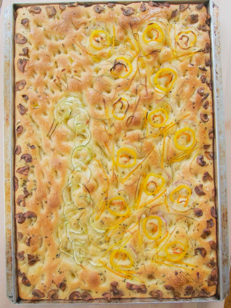 decorated Focaccia Bread