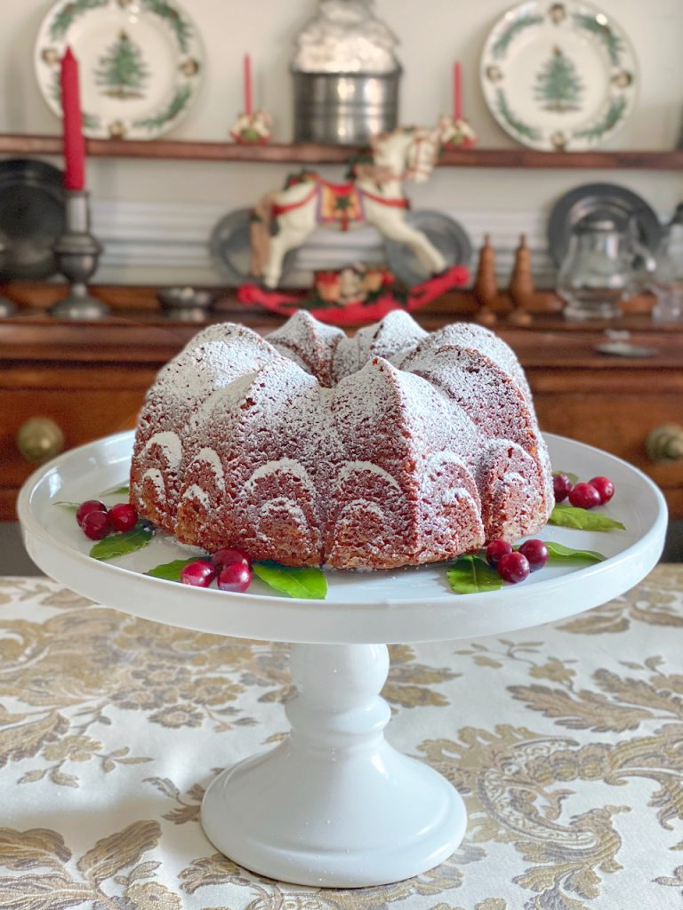 side view of Christmas Gingerbread Cake