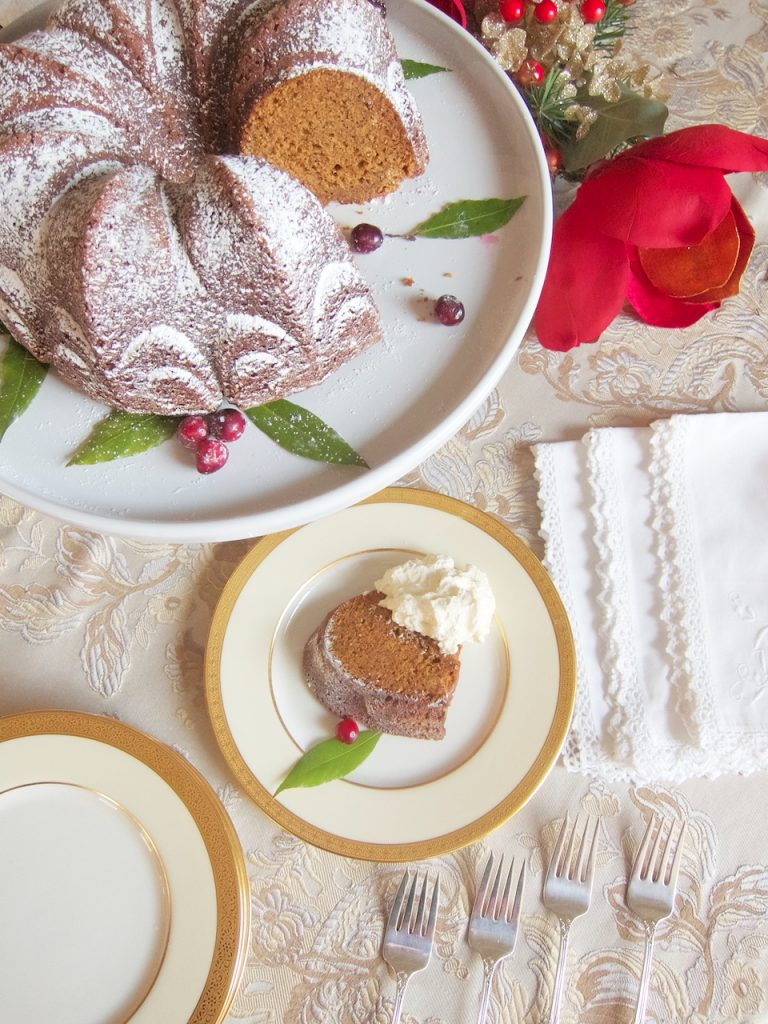 Christmas Gingerbread Cake With Eggnog Whipped Cream